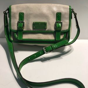 Kate Spade coated canvas and patent leather bag